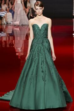 Beautiful big green sequins dress- Elie Saab