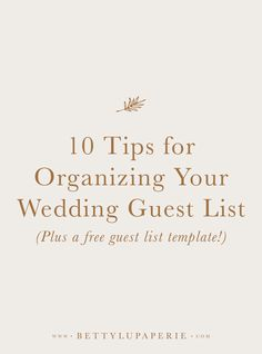 Does it feel like your wedding planning checklist never ends? How will you keep track of all of those RSVPs? If youre feeling overwhelmed then its time to learn how to organize your wedding guest list in Excel. Wedding Guest List, The Wedding Date, Wedding Tips, Wedding Day, Wedding Ceremony, Dream Wedding, Reception, Wedding Goals, Wedding Book