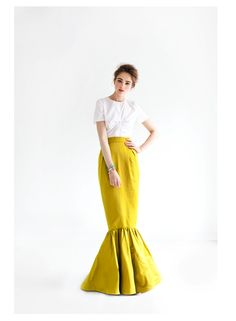 Yellow Mermaid Skirt