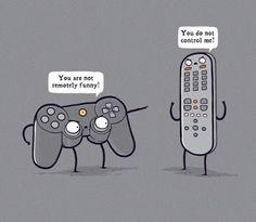 Remote Control | Funny Technology - Community - Google+ via Lee Alison | #puns #funny