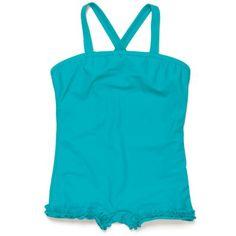 Swimming costume - Turquoise - Girls Beachwear - Girls