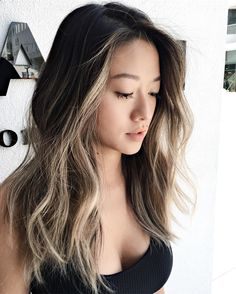 Dark to light perfection more beauty hair color asian, hair Asian Hair Blonde Highlights, Balayage Asian Hair, Bronde Balayage, Hair Color Balayage, Blonde Asian, Asians With Blonde Hair, Asian Ombre Hair, Ombre Hair For Asians, Asian Brown Hair