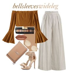 Bell sleeves or wide leg? Why not both? by fleuramour on Polyvore featuring polyvore, fashion, style, Boohoo, Yves Saint Laurent, Christian Dior, Zimmermann and clothing