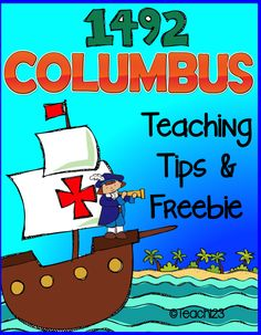 Columbus experiment: let your students design their own ship, sail it, observe it, and make changes to improve the design. Printables are included as a FREEBIE.