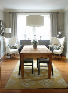 Mesmerizing Dining Room Design With Low Hanging Pendant Lamp Feats Drum  Shade · Ikea Dining Room SetsDining ...