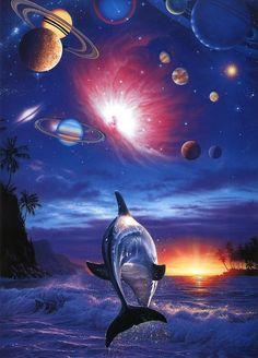 Nothing says class like a Lassen poster in your bathroom. SPAAACE DOLPHIIIIIIINZZZZ Christian Riese Lassen - Dolphin Fantasy