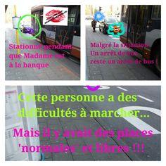 Certes, cette personne avec une  #béquille a des difficultés à marcher mais utiliser un arrêt de bus de la #Stib alors que plusieurs places sont libres, c'est tout de même #abuser, non ?  Le 20.04.2015 à 16h55, rue/place/arrêt Tomberg à Woluwé-St-Lambert