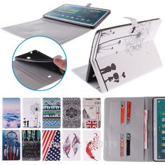 Color Mix Magnetic Stand Flip Pu Leather Case For Samsung Galaxy Tab S 10.5 T800 T805 Tablet Pc Case Back Cover With Card Slots