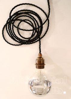 Industrielle ampoule lampe cordon textile avec par lightdeluxe