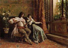 Tales of the Heroes. Alfonso Savini (Italian, 1836-1908). Oil on canvas.