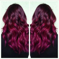 50 Magenta hair color Ideas for brave women - To dye or not to dye? Hair Color Auburn, Auburn Hair, Red Hair Color, Hair Color Balayage, Cool Hair Color, Purple Hair, Ombre Hair, Magenta Hair Colors, Red Ombre