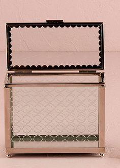 Decorative Glass Box with Mirror Base Wishing Well Alternative Glamorous Wedding Theme, Retro Wedding Theme, Wedding Themes, Wedding Ideas, Wedding Decor, Retro Weddings, Wedding Fun, Wedding Stuff, Wedding Inspiration