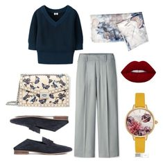 """""""Navy"""" by aneeqlondon on Polyvore featuring Uniqlo, MANGO, Ted Baker and modestfashion"""