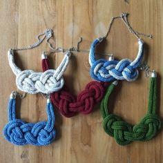 collares de punto con tricotin / nitin.es