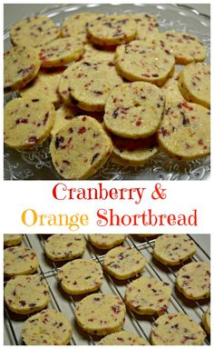 Cranberry and Orange Shortbread from Pinkpostitnote.com - so pretty for Christmas. You can make the dough in advance and freeze ready for baking or bake and store for up to 3 months! Baking Recipes, Cookie Recipes, Dessert Recipes, Yummy Recipes, Desserts, Christmas Baking, Christmas Goodies, Christmas Time, Christmas Ideas