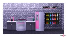 Pinkfuel Pink Furniture, Sims 4 Cc Furniture, Custom Furniture, Sims 4 Mm, My Sims, Sims 4 Restaurant, Sims 4 Kitchen, Sims 4 Studio, Sims 4 Houses