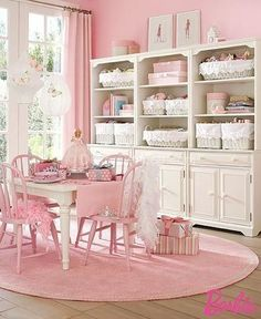 Shabby Chic Cottage Decor | pembe vintage yemek odası dekorasyonu