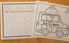 Preschool Calendar Notebook Months of the Year