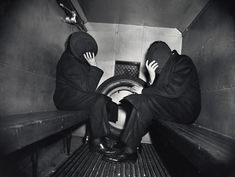 Weegee, Two Offenders in the Paddy Wagon