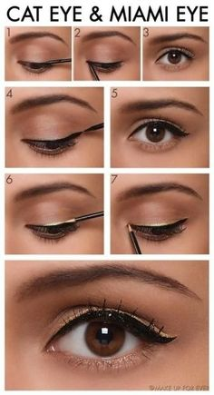How-To: Cat Eye and Miami Eye Makeup Tutorials