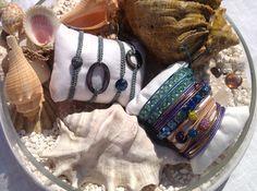 Wrap bracelets, beads, sawarovski , leather, cristals, turquaise, coral, mother of perl, shambala, neon, beach, fun, summer, bangles, shine, jewellery ,chan luu