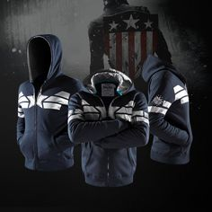 Captain America Hoodie Winter soldier edition - Idol Store - Geek Cloud