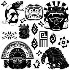 Ancient American Elements | Vectors | Conceptual | Religion | ThemeSquirrel