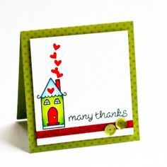 Many Thanks Homemade Christmas Card: this step-by-step tutorial will teach you how to make a homemade thank you card for Christmas. Your loved ones will appreciate it!
