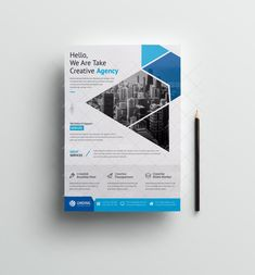 This corporate flyer is designed in Photoshop. All PSD files are very well organized flyer templates. Creative Flyer Design, Creative Flyers, Creative Business, Flyer And Poster Design, Poster Design Layout, Graphic Design Templates, Ux Design, Insert Image, Business Flyer Templates