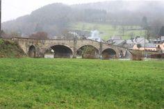 The post WW II bridge across the river Semois, Vresse (Belgium, Namur)