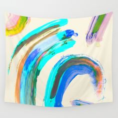 April Abstract Wall Tapestry