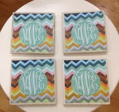 Monogrammed Coasters--Design Your Own...perfect to pair with your favorite bottle of wine or pair of wine glasses