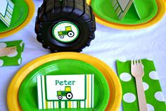 John Deere Tractor Party- another good idea for #4.