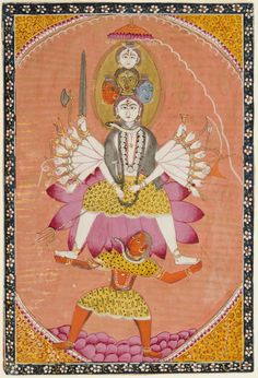 Svacchanda Bhairava, A Tantric Form of Shiva.   Artist/maker unknown, Indian  Geography: Made in Jammu and Kashmir.  Date: c. 1850-1875.
