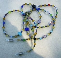 Handmade Eyeglass Chain  Bright & Colorful by JewelryArtistry
