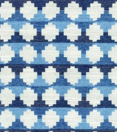 Upholstery Fabric- HGTV Home Auction Block Lapis