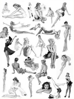 Pin up poses a good reference for most any model to keep in their heads.