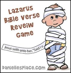 Lazarus Come Out Bible Cup Game for Childrens Sunday School from