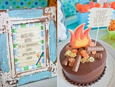 summer camp theme birthday party.  one of the better parties i've seen - love it!