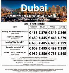 JLAND TRAVEL: DUBAI OFFERTA SPECIALE DA FEBBRAIO A MAGGIO VOLO+5...
