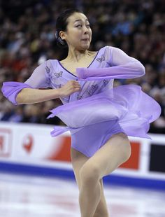 Mao Asada, of Japan, competes during the free skate in the World Figure Skating Championships, Saturday, April 2, 2016, in Boston. (AP Photo/Steven Senne) (1392×1832)