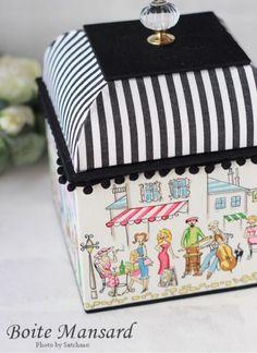 丸箱の画像 | 江戸川区 カルトナージュ Atelier Satchmo アトリエ・…