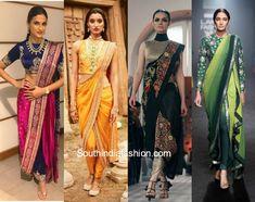 5 Reasons Why You Should Flaunt The Saree Pants This Season Dress Indian Style, Indian Dresses, Indian Outfits, Saree Wearing Styles, Saree Styles, Trendy Sarees, Stylish Sarees, Saree With Pants, Dhoti Saree