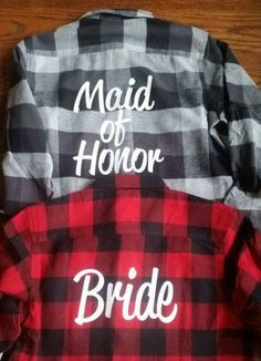 Shirts for day of wedding!