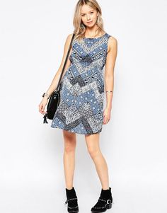 New Look Maternity | New Look Maternity Tile Print Dress at ASOS