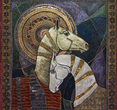 by Fefa Koroleva, Russian artist Painted Horses, Horse Drawings, Art Drawings, Fantasy Character, Art Populaire, Art Et Illustration, Art Abstrait, Equine Art, Horse Art