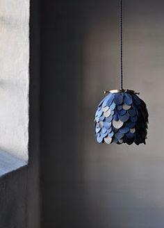 Luminaire de Cuir / love this light designed by Johanna Vighagen Stone. via wo & we.