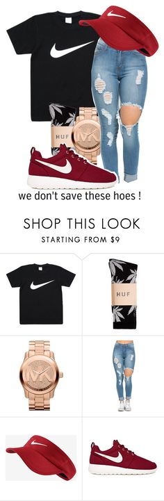 """""""Bicken Back Being Bool ~ YG"""" by qxeen-vi ❤ liked on Polyvore featuring HUF, Michael Kors and NIKE"""