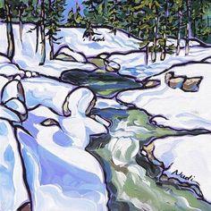 """""""No. 13/15 Snow"""" - Original Fine Art for Sale - © Nadi Spencer"""