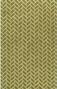 Herringbone Area Rug, Green - contemporary - rugs - Target